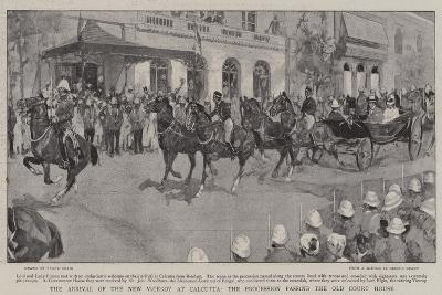The Arrival of the New Viceroy at Calcutta, the Procession Passing the Old Court House-Frank Craig-Giclee Print