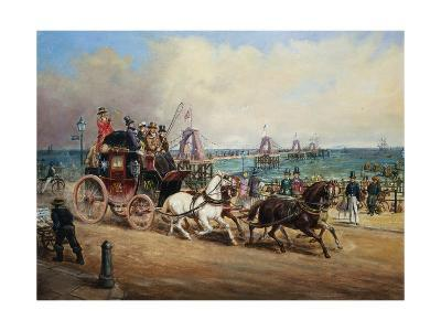 The Arrival of the Royal Mail, Brighton, England-John Charles Maggs-Giclee Print