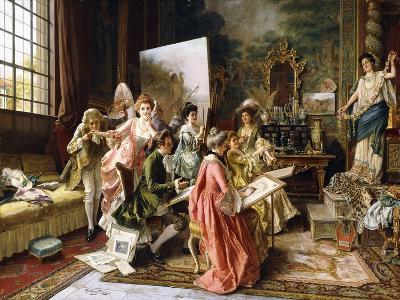 The Art Class-Arturo Ricci-Giclee Print