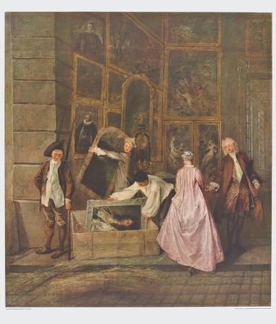 The Art Dealer Gersaint's Sign Board (left part)-Antoine Watteau-Collectable Print