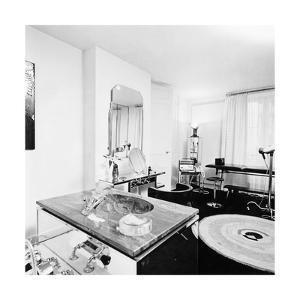 The Art Deco Bathroom in the Paris Apartment of Fashion Designer Karl Lagerfeld