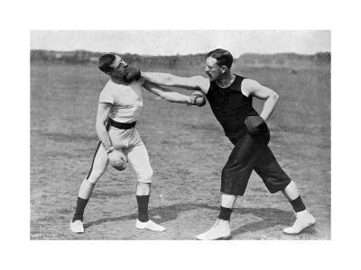 The Art of Boxing, the Right under the Chin, Aldershot, Hampshire, 1896-Gregory & Co-Giclee Print