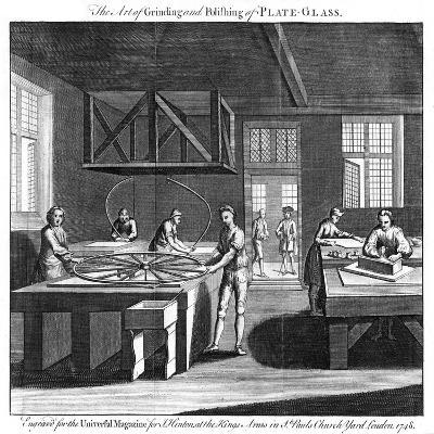 The Art of Grinding and Polishing of Plate-Glass, 1748--Giclee Print