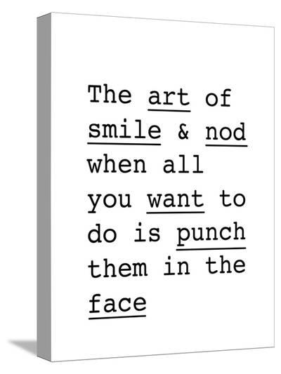 The Art of Smile and Nod-Brett Wilson-Stretched Canvas Print