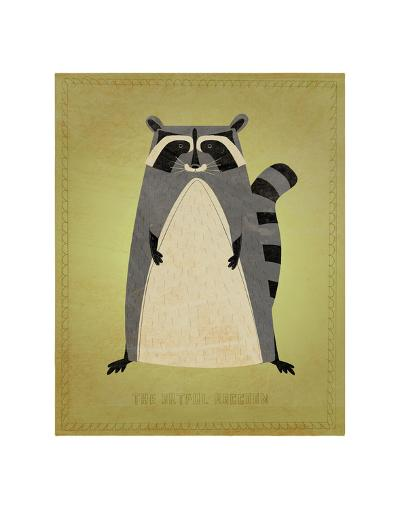 The Artful Raccoon-John Golden-Art Print