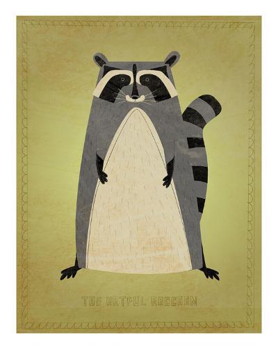 The Artful Raccoon-John W^ Golden-Art Print