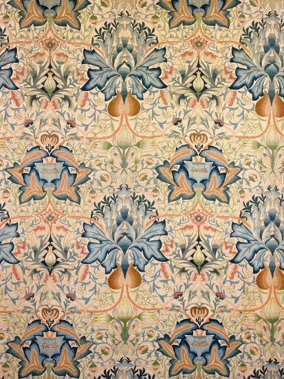 The Artichoke Embroidered Hanging, Worked by Mrs Godman, 1877-William Morris-Giclee Print