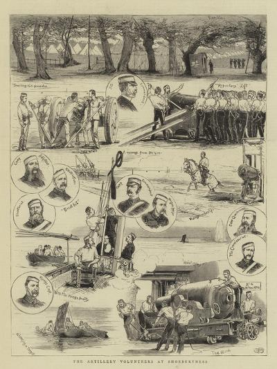 The Artillery Volunteers at Shoeburyness--Giclee Print