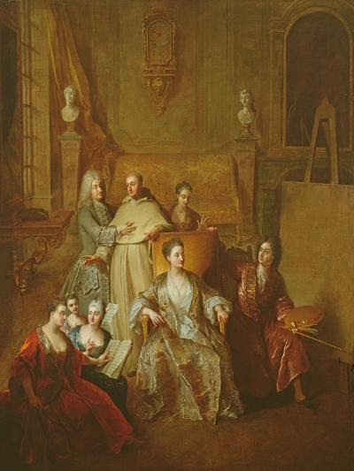 The Artist and His Family, C.1708-Francois de Troy-Giclee Print