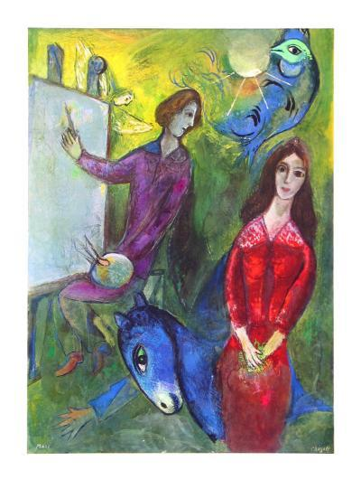 The Artist and His Model-Marc Chagall-Collectable Print