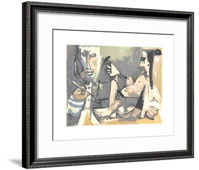 The Artist and His Model-Pablo Picasso-Framed Serigraph