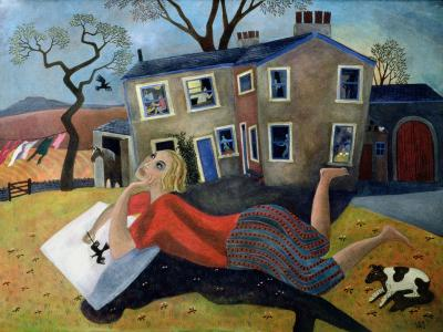 The Artist at Meregill, 1992-Lucy Raverat-Giclee Print