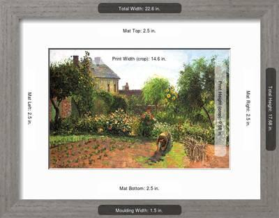 34 ideas for privacy in the garden with a decorative.htm the artist garden at eragny  art print camille pissarro art com  the artist garden at eragny  art print