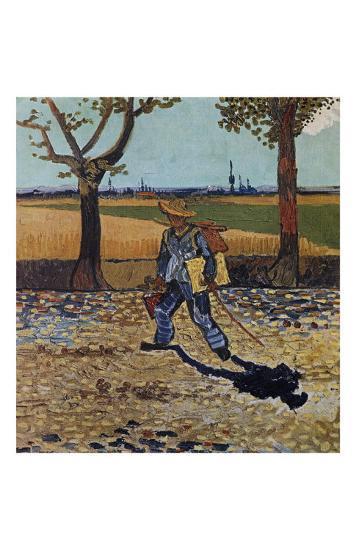 The Artist on the Road to Tarascon-Vincent van Gogh-Art Print