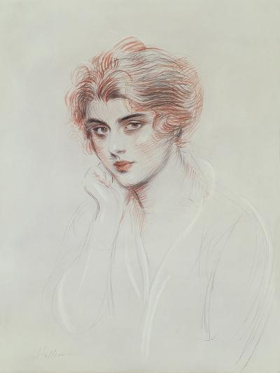 The Artist's Daughter (Coloured Pencil on Paper)-Paul Cesar Helleu-Giclee Print