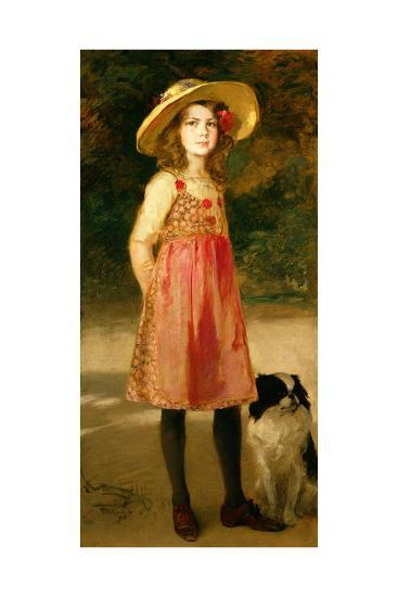 The Artist's Daughter, Hilde-Frederich August Kaulbach-Giclee Print