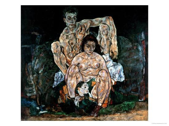 The Artist's Family-Egon Schiele-Giclee Print