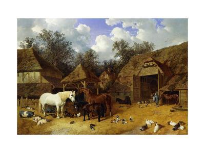 The Artist's Farmyard at Meopham, Kent-John Frederick Herring I-Giclee Print
