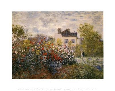 The Artist's Garden at Argenteuil-Claude Monet-Art Print