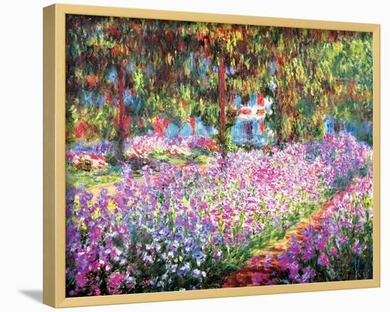 The Artist's Garden at Giverny, c.1900-Claude Monet-Lamina Framed Art Print