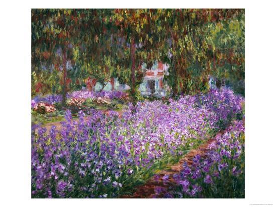 The Artist's Garden At Giverny, c.1900-Claude Monet-Premium Giclee Print