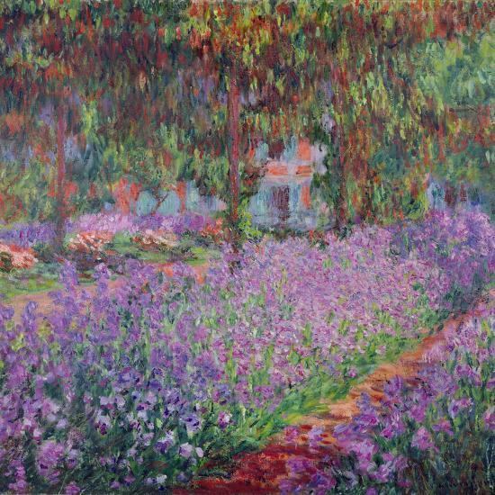 The Artist's Garden At Giverny, c.1900-Claude Monet-Giclee Print