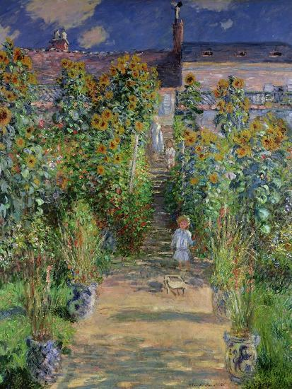 The Artist's Garden at Vetheuil, 1880-Claude Monet-Giclee Print