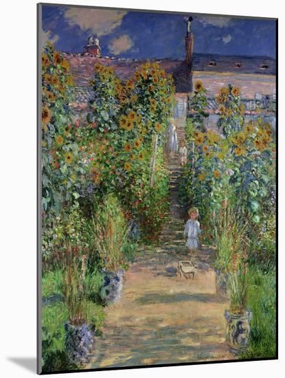 The Artist's Garden at Vetheuil, 1880-Claude Monet-Mounted Giclee Print