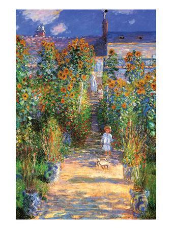 Attirant The Artistu0027s Garden At Vetheuil Art Print By Claude Monet   Art.com
