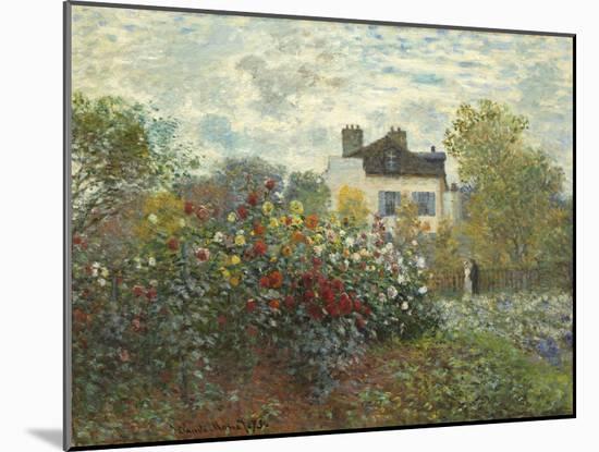 The Artist's Garden in Argenteuil (A Corner of the Garden with Dahlias), 1873-Claude Monet-Mounted Giclee Print