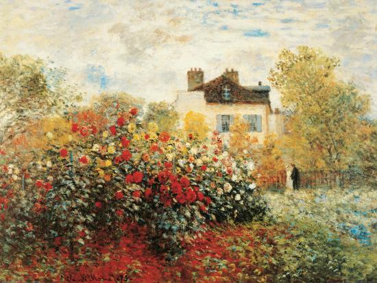 The Artist's Garden in Argenteuil-Claude Monet-Art Print