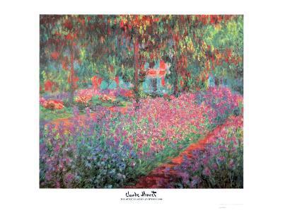 The Artist's Garden of Giverny, c.1900-Claude Monet-Art Print