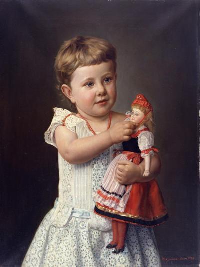 The Artist's Granddaughter, Olga Graupenstein, 1888-Friederich Wilhelm Graupenstein-Giclee Print