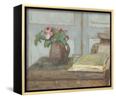 The Artist's Paint Box and Moss Roses, 1898-Edouard Vuillard-Framed Canvas Print