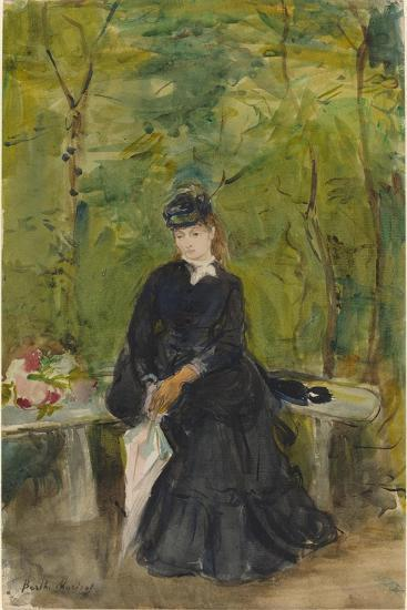 The Artist's Sister Edma Seated in a Park, 1864-Berthe Morisot-Giclee Print
