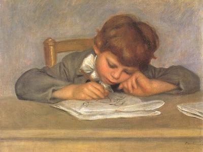 The Artist's Son Jean Drawing, 1901-Pierre-Auguste Renoir-Giclee Print