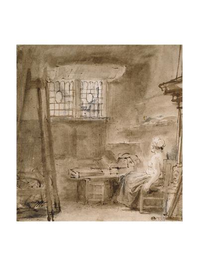 The Artist's Studio-Rembrandt van Rijn-Giclee Print