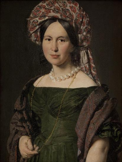 The artist's wife Cathrine, 1842-4-Christian-albrecht Jensen-Giclee Print