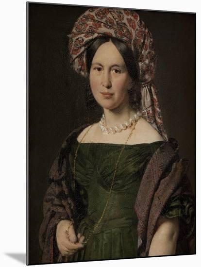 The artist's wife Cathrine, 1842-4-Christian-albrecht Jensen-Mounted Giclee Print