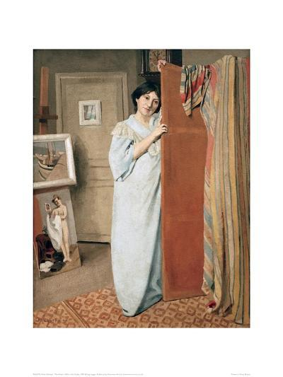 The Artist's Wife in His Studio-F?lix Vallotton-Giclee Print
