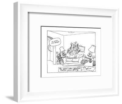 The artist wakes refreshed, creative juices flowing. - New Yorker Cartoon-Jack Ziegler-Framed Premium Giclee Print