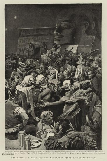 The Artists' Carnival in the Munchener Kindl Keller at Munich--Giclee Print