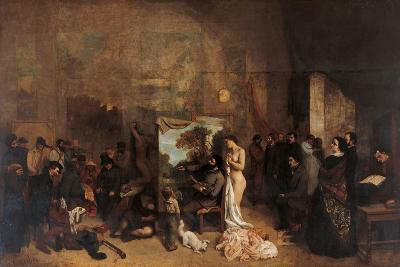 The Artists Studio-Gustave Courbet-Giclee Print