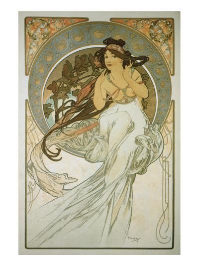 The Arts: La Musique-Alphonse Mucha-Premium Giclee Print