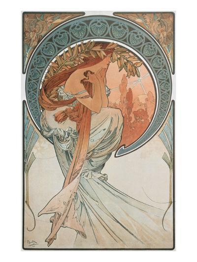 The Arts: Poetry, 1898-Alphonse Mucha-Giclee Print