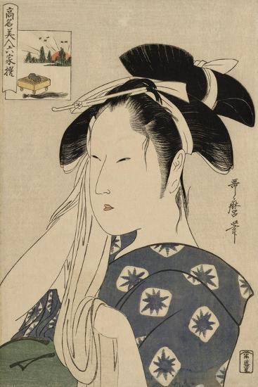 The Asahiya Widow, C. 1795-96-Kitagawa Utamaro-Giclee Print