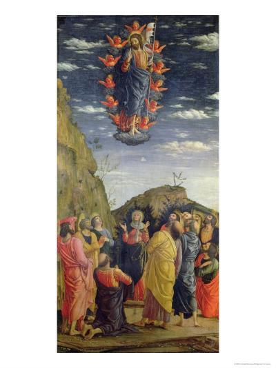 The Ascension, Left Hand Panel from the Altarpiece, c.1466-Andrea Mantegna-Giclee Print