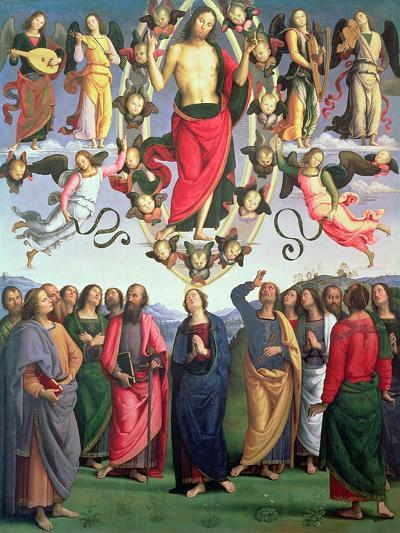 The Ascension of Christ, 1495-98 (Oil on Panel)-Pietro Perugino-Giclee Print