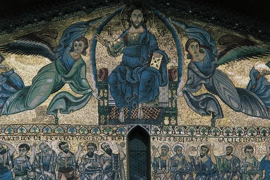 The Ascension of Christ, Mosaic on the Facade of the Basilica of St Fridianus--Giclee Print