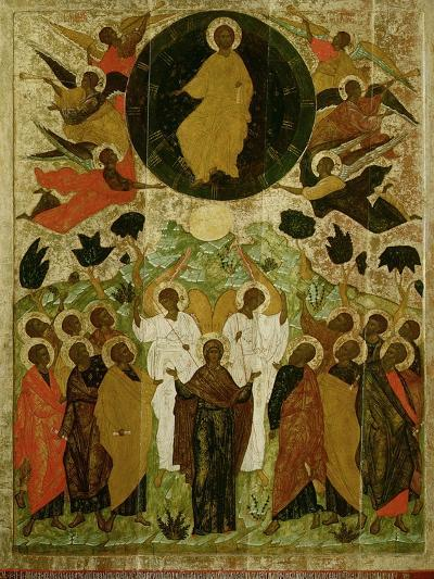The Ascension of Our Lord, Russian Icon from the Malo-Kirillov Monastery, Novgorod School, 1543--Giclee Print